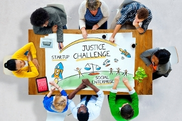 Banner for the Justice Challenge
